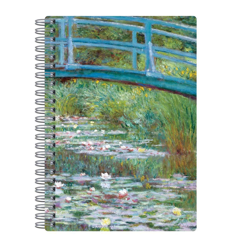 "Monet Footbridge Wire-O Journal 6 X 8.5"" Journals and Notebooks Galison"