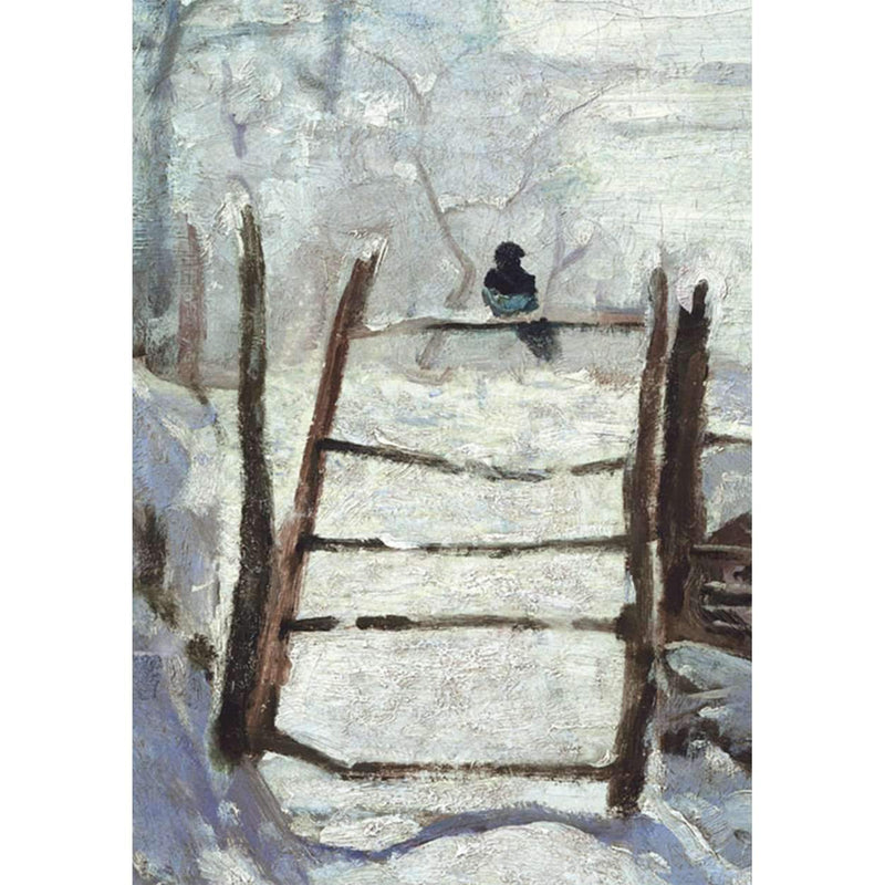 Monet Magpie Detail Half Note Boxed Cards Holiday Notecards Galison