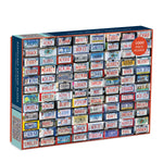 Nantucket License Plates 1000 Piece Jigsaw Puzzle 1000 Piece Puzzles Galison