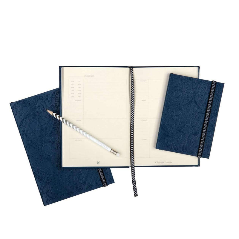 Navy Embossed Paseo Notebook Christian Lacroix Notebooks and Journals Christian Lacroix