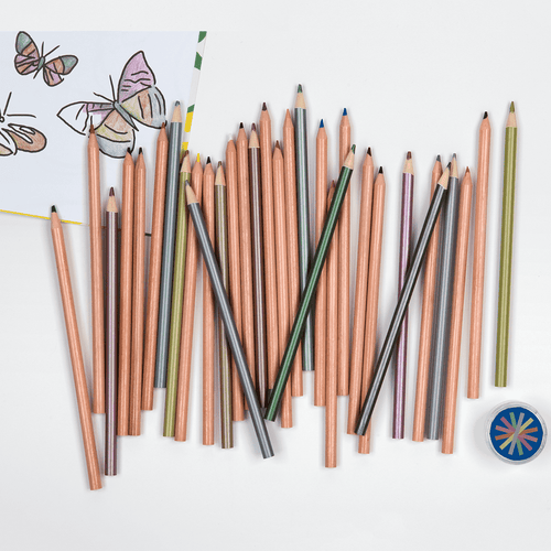 Neon Colored Pencil Set With Sharpener Pens and Pencils Galison
