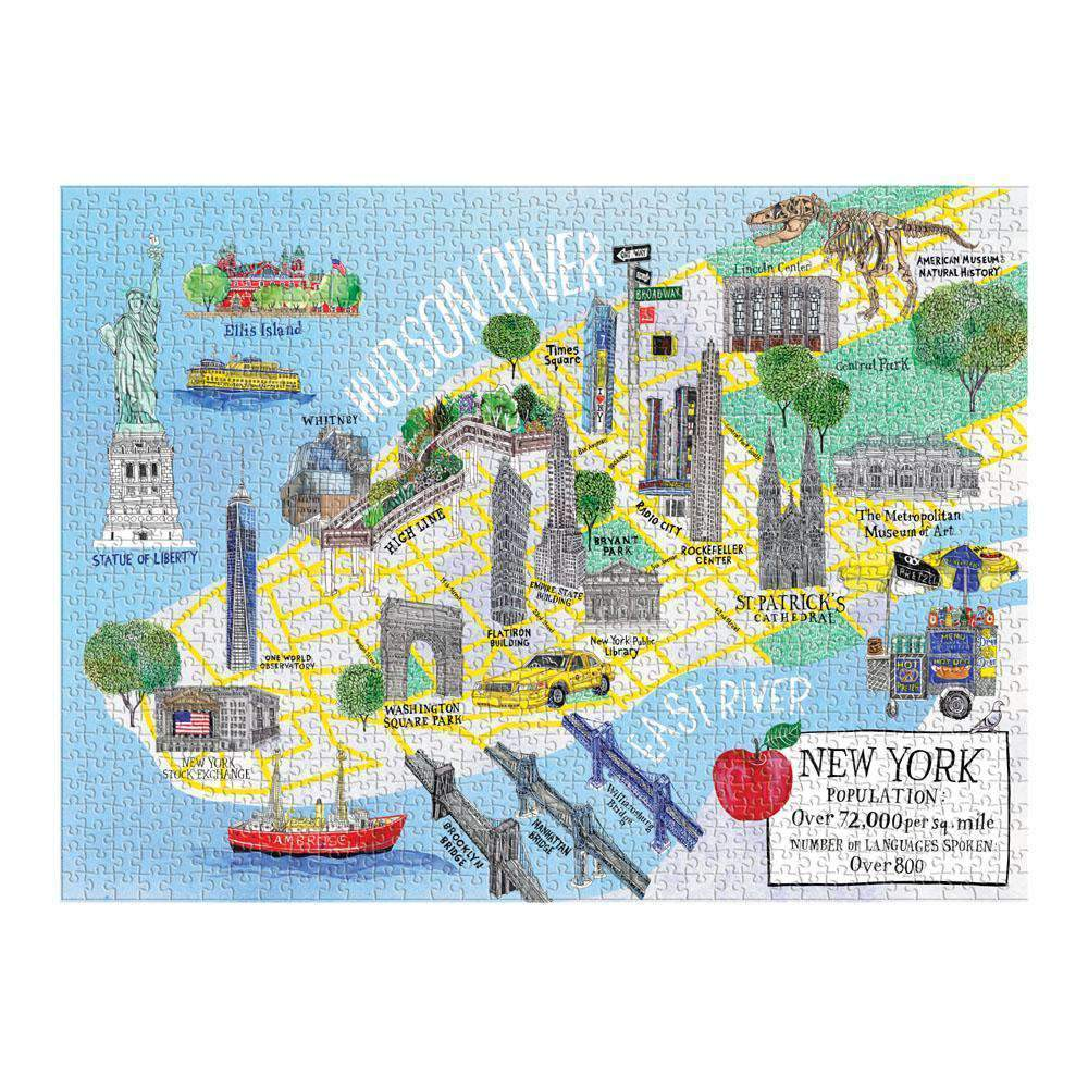 New York City Map 1000 Piece Puzzle 1000 Piece Puzzles Galison