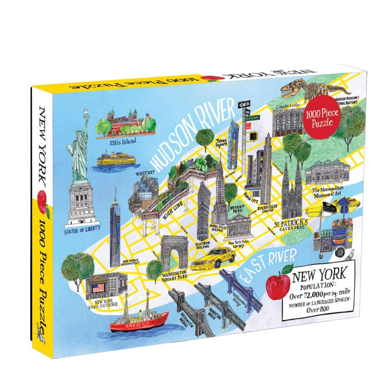 New York City Map 1000 Piece Puzzle | Galison Newyork City Map on
