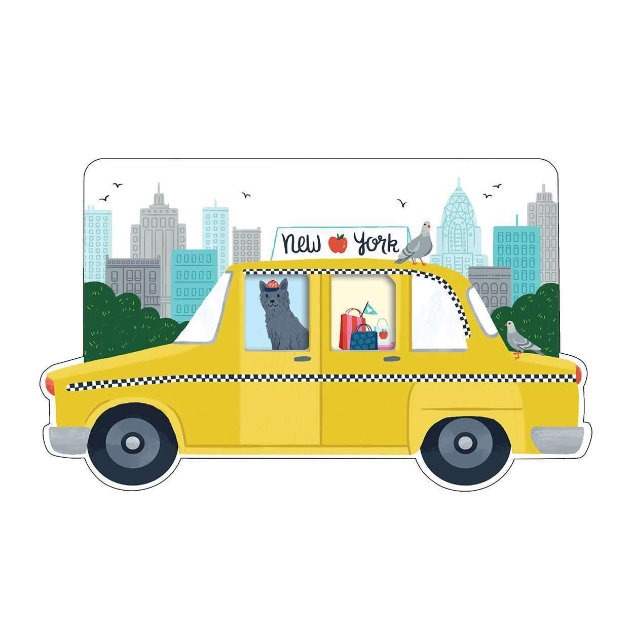 New York City Taxi Shaped Cover Sticky Notes Sale Galison