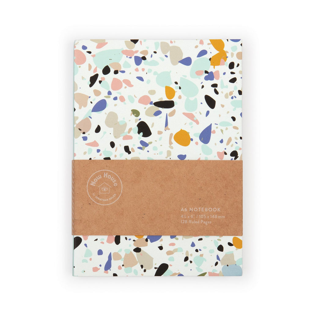 Now House by Jonathan Adler A6 Terrazzo Notebook Journals and Notebooks Galison