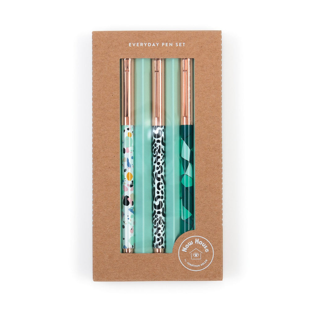 Now House by Jonathan Adler Everyday Pen Set, Set of 3 Pens and Pencils Galison