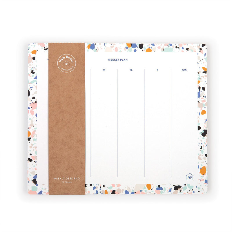 Now House by Jonathan Adler Terrazzo Weekly Deskpad Desk Pads Galison