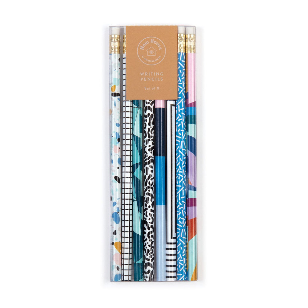 Now House by Jonathan Adler Writing Pencil Set, Set of 8 Pens and Pencils Galison