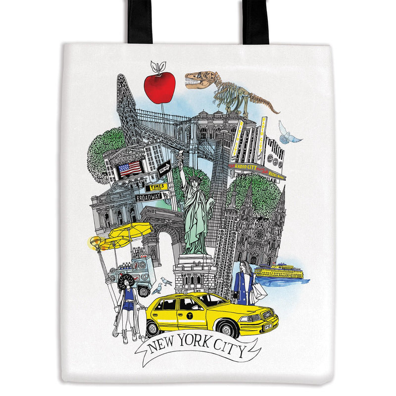 NYC Canvas Tote Bag Tote Bags Cities Collection