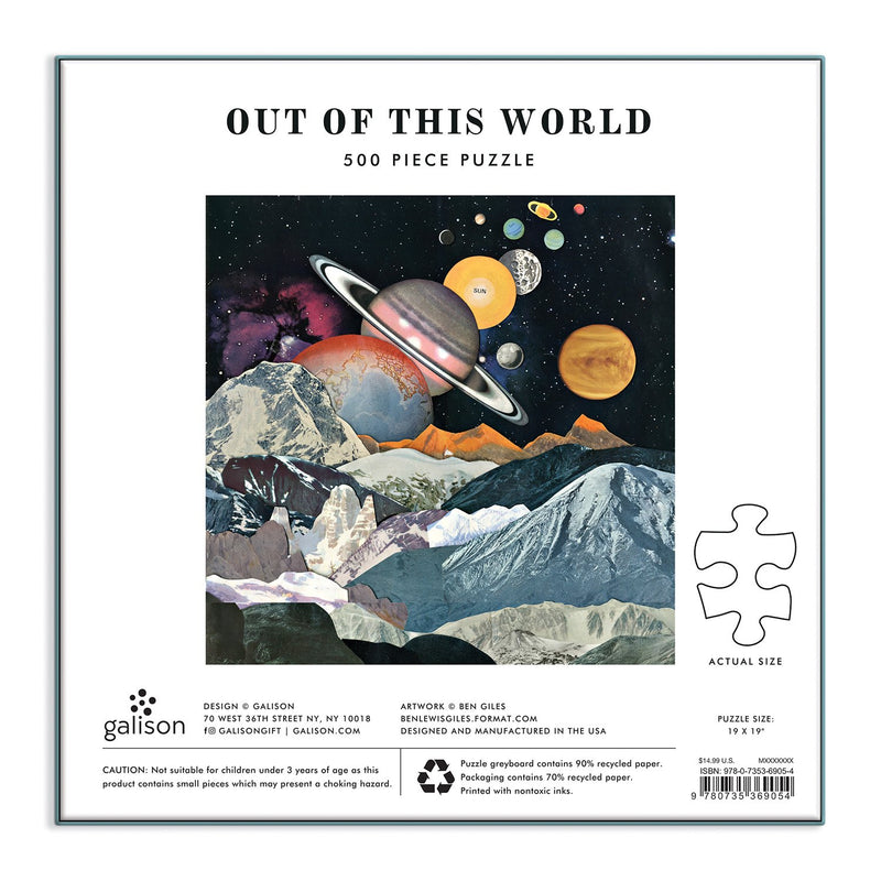 Out of this World 500 Piece Puzzle 500 Piece Puzzles Galison