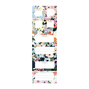 Painted Petals Book Of Labels Bookmarks Galison