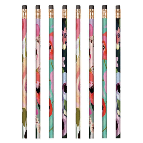 Painted Petals Pencil Set Pens and Pencils Galison