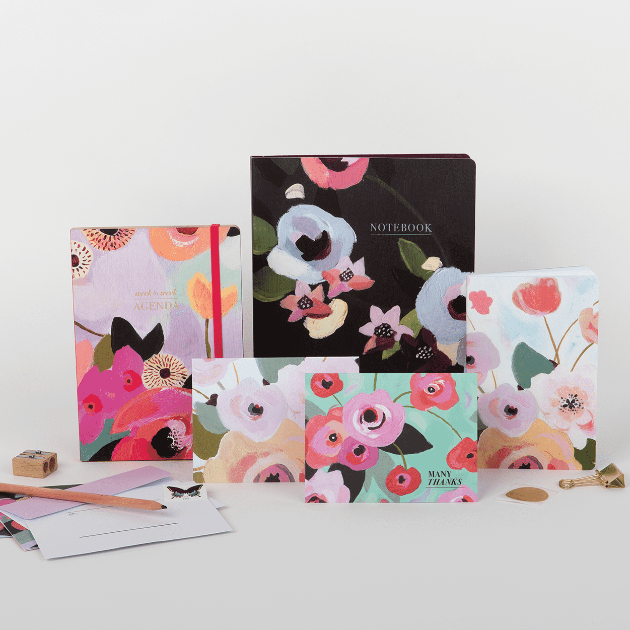 Painted Petals Writer's Notebook Set Journals and Notebooks Galison