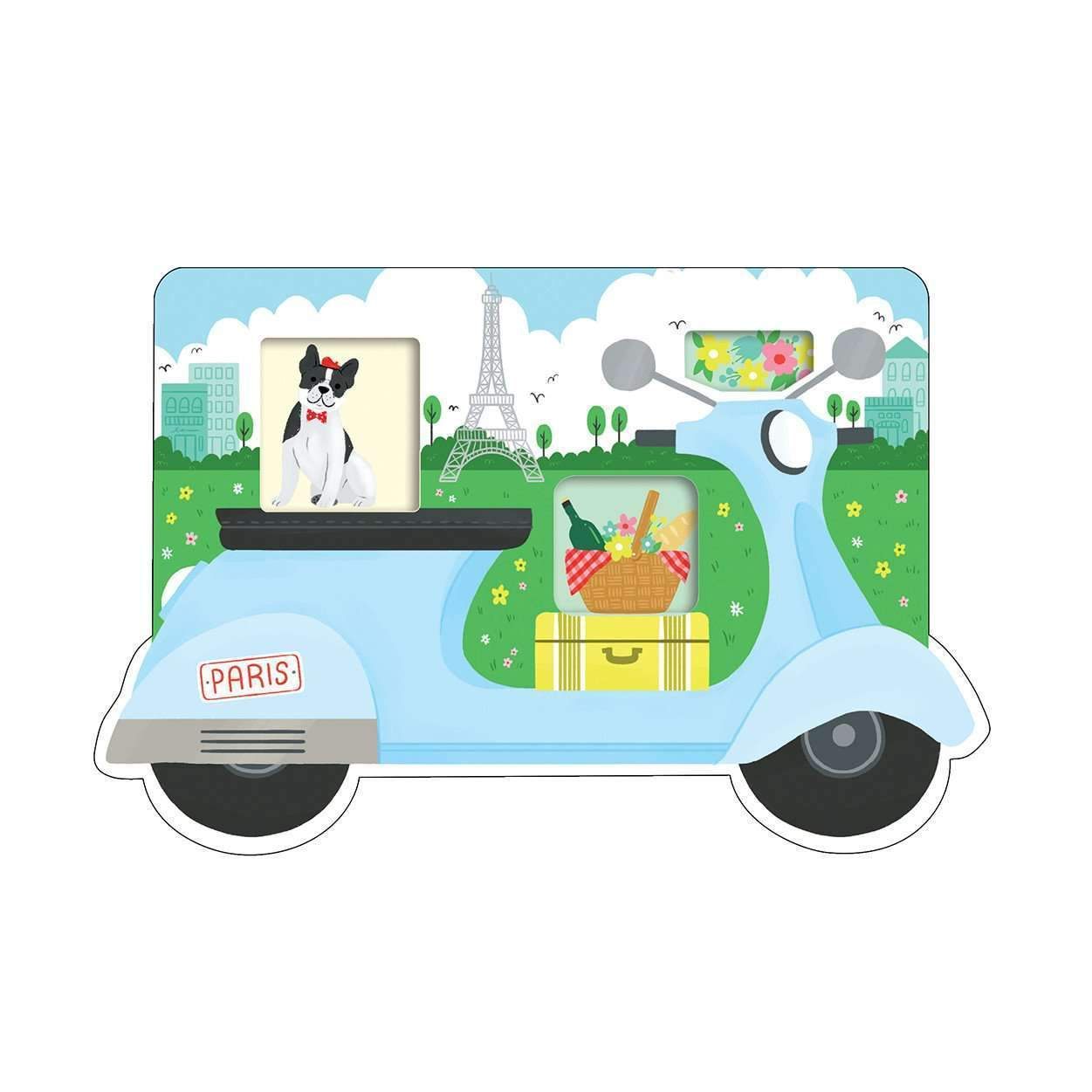 Paris Scooter Shaped Cover Sticky Notes sale Galison