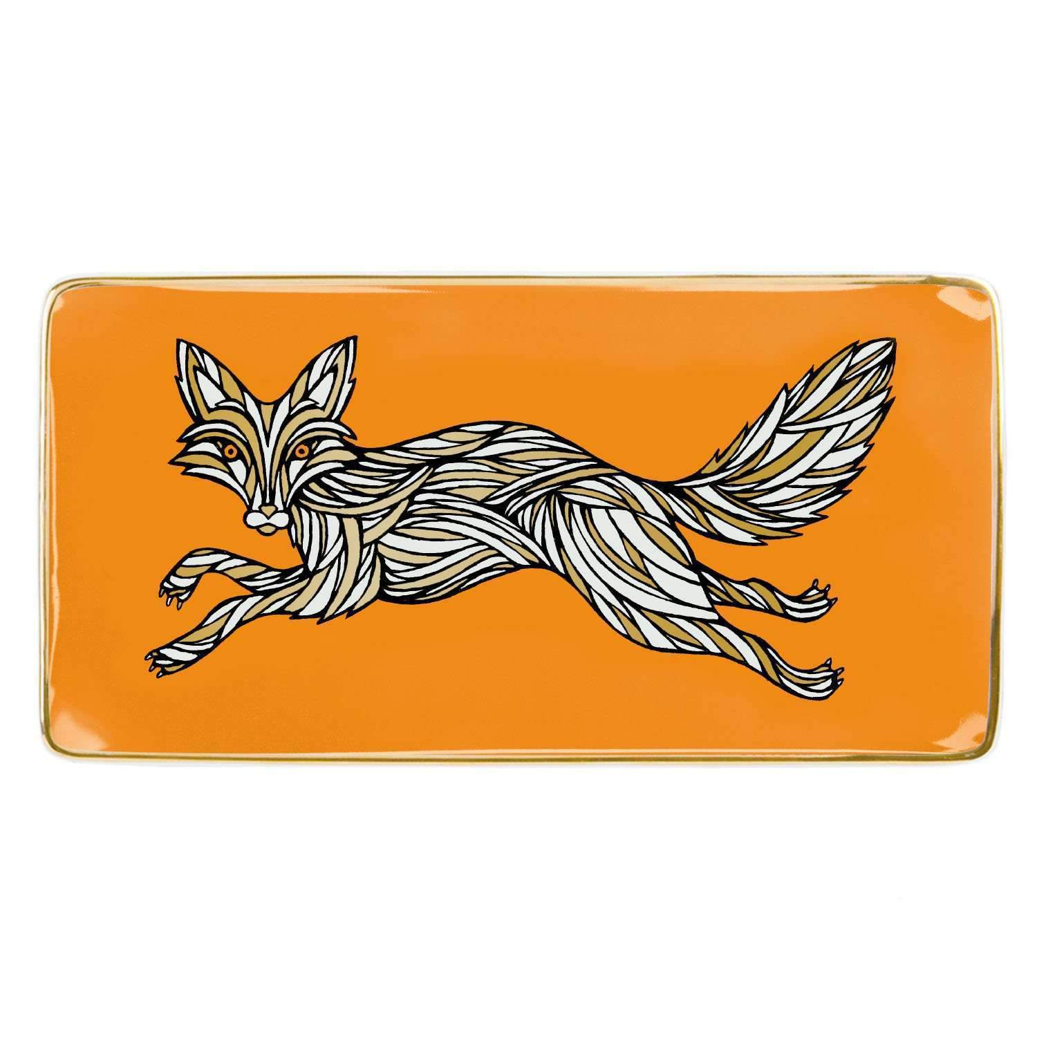 Patch NYC Fox Large Tray Porcelain Trays Galison