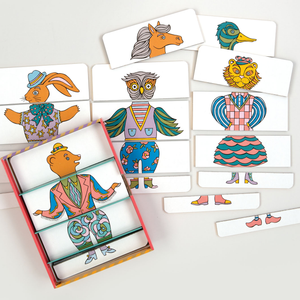 Patch NYC Metamorphosis Mix & Match Character Puzzle Set Mix and match character puzzle sets Galison