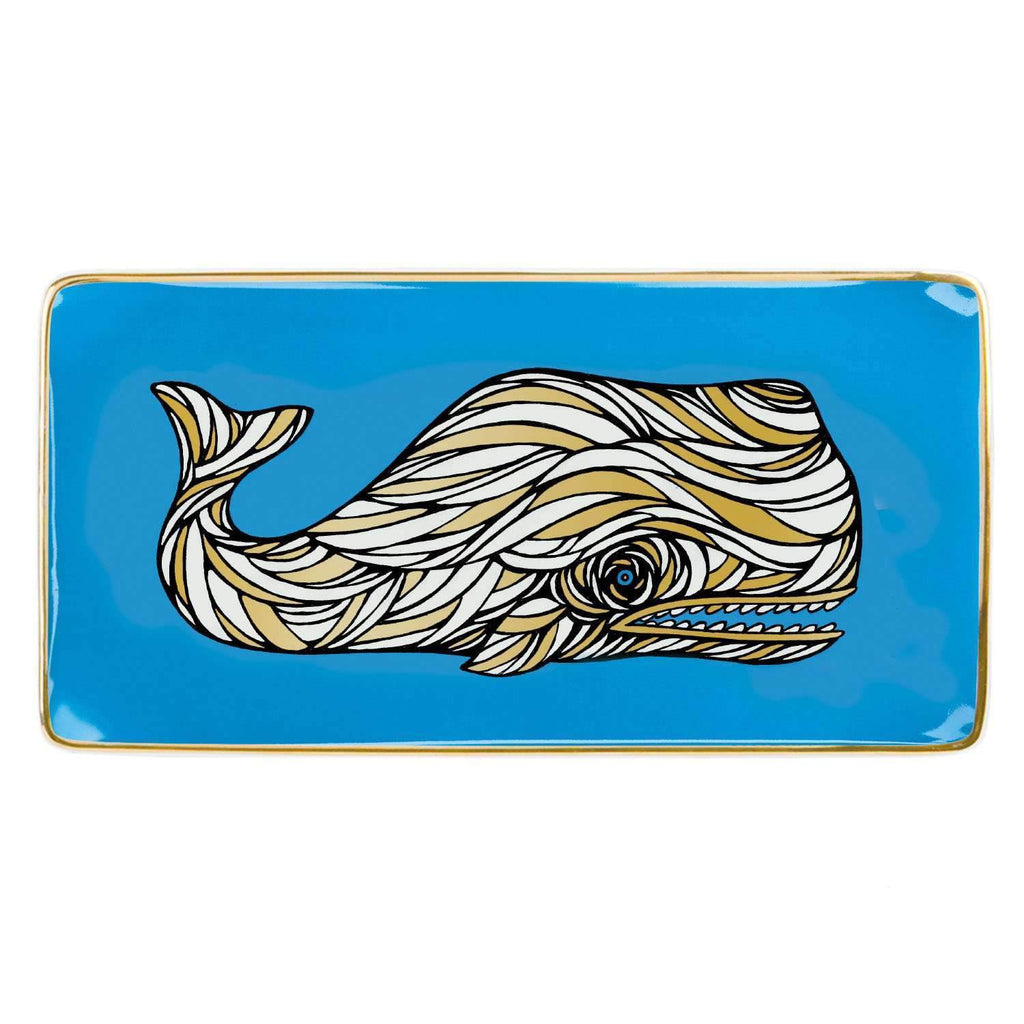 Patch NYC Whale Large Tray Porcelain Trays Galison