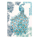Peacock Handmade Embroidered Journal Journals and Notebooks Galison