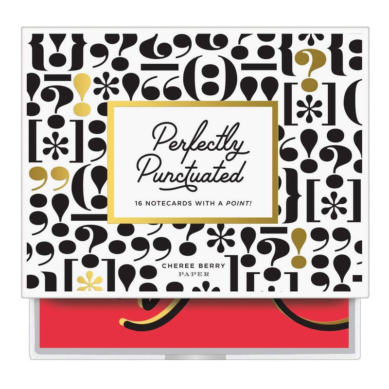 Perfectly Punctuated Greeting Assortment Notecards Greeting Cards Galison