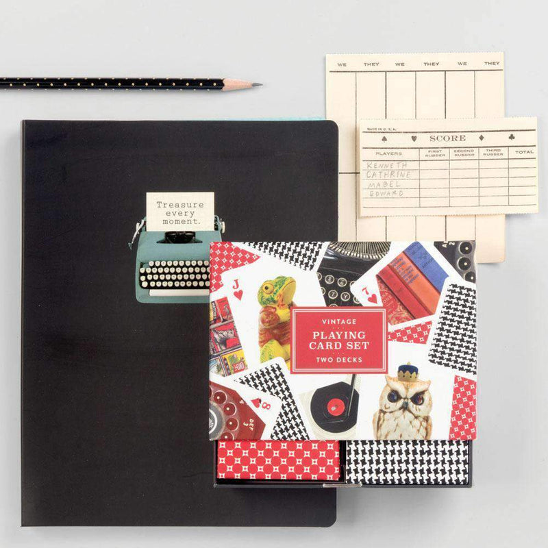 Phat Dog Vintage Typewriter Deluxe Spiral Notebook Journals and Notebooks Galison
