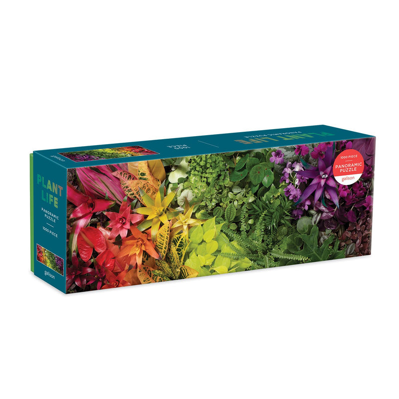 Plant Life 1000 Piece Panoramic Jigsaw Puzzle Panoramic Puzzles Galison