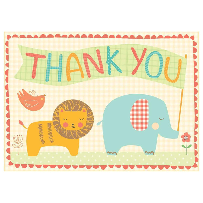 Playful Animals Thank You Notes Thank You Cards Galison
