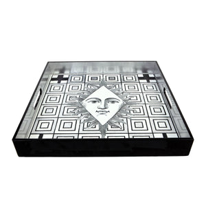 Poker Face Square Lacquer Tray Christian Lacroix Home and Gifts Christian Lacroix