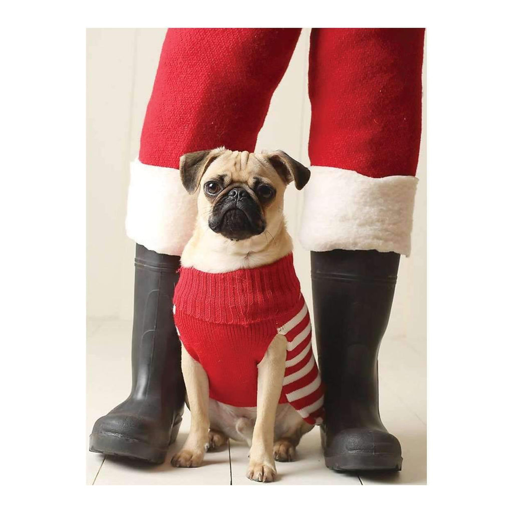 Pug Elf Half Note Holiday Notecards Galison