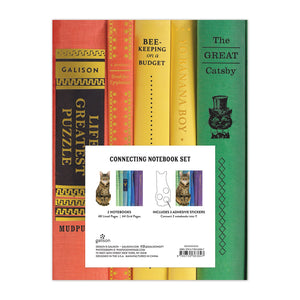 Queen of the Stacks Connecting Notebook Set Journals and Notebooks Galison