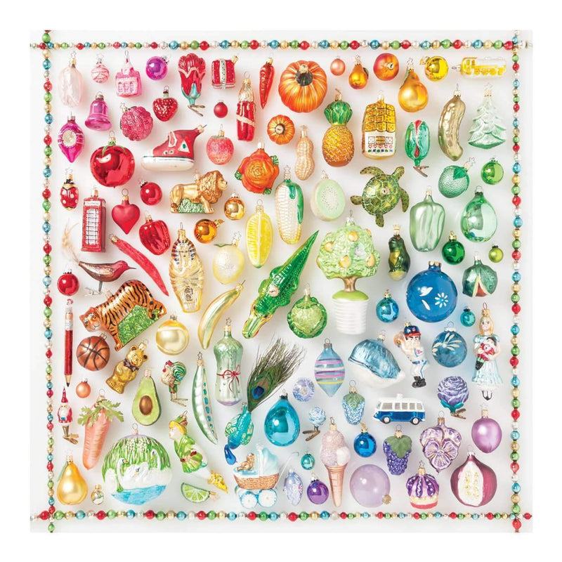 Rainbow Ornaments 500 Piece Puzzle holiday 500 Piece Puzzles Galison