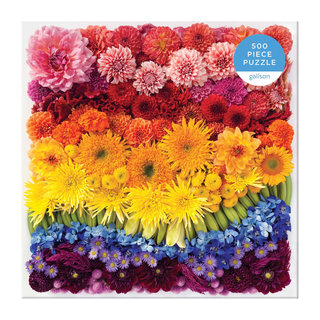 Rainbow Summer Flowers 500 Piece Puzzle 500 Piece Puzzles Galison