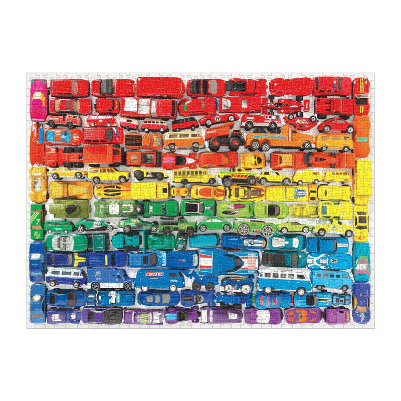 Rainbow Toy Cars 1000 Piece Puzzle 1000 Piece Puzzles Galison