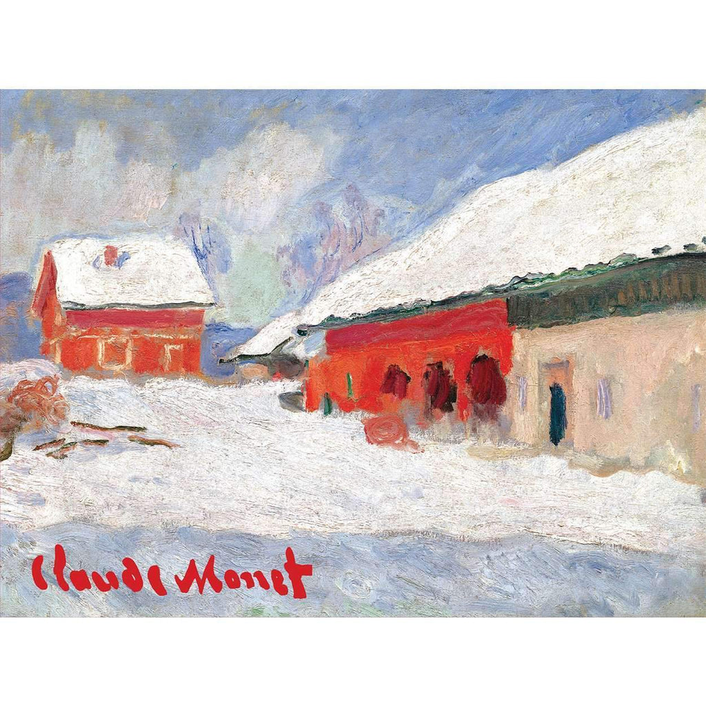 Red Barns in Norway Holiday Cards Holiday Notecards Galison