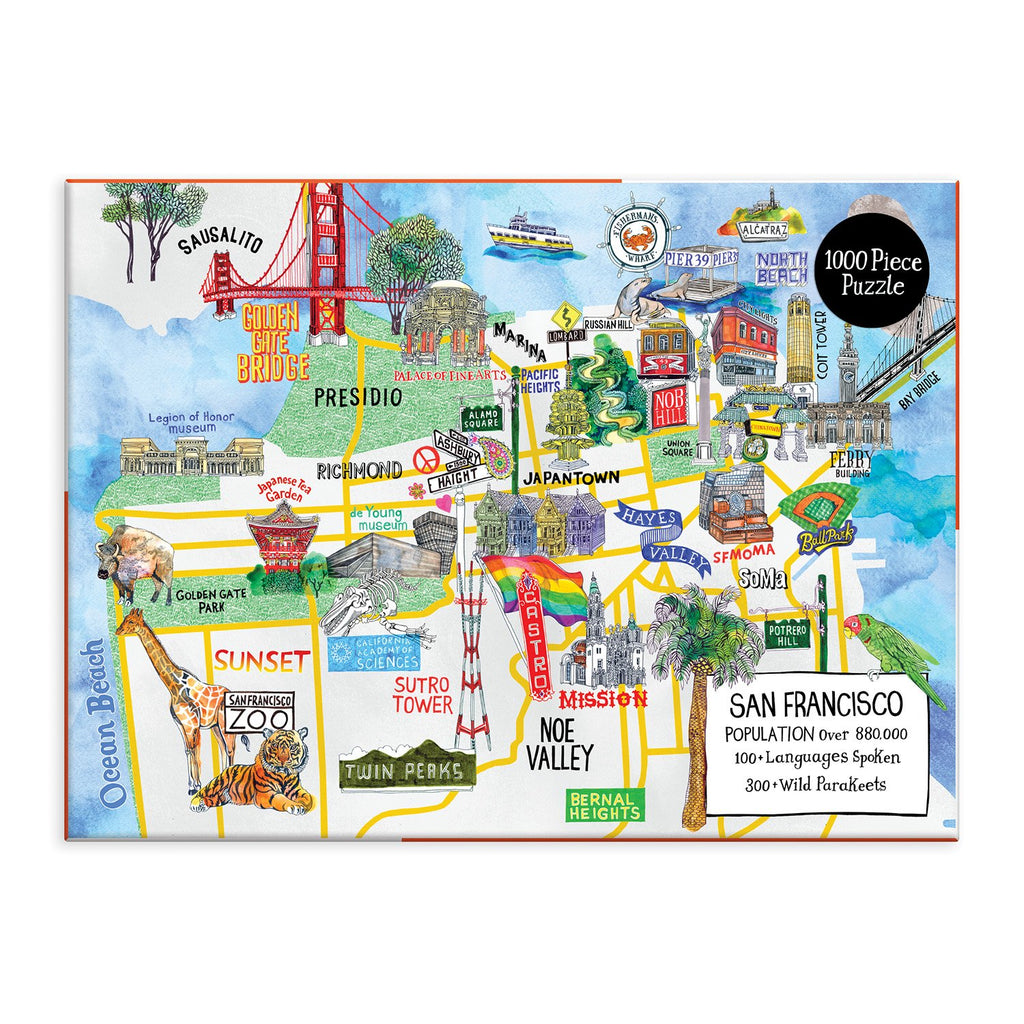 San Francisco 1000 Piece Jigsaw Puzzle 1000 Piece Puzzles Cities Collection