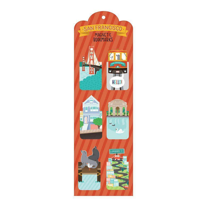 San Francisco Magnetic Bookmarks Bookmarks Galison