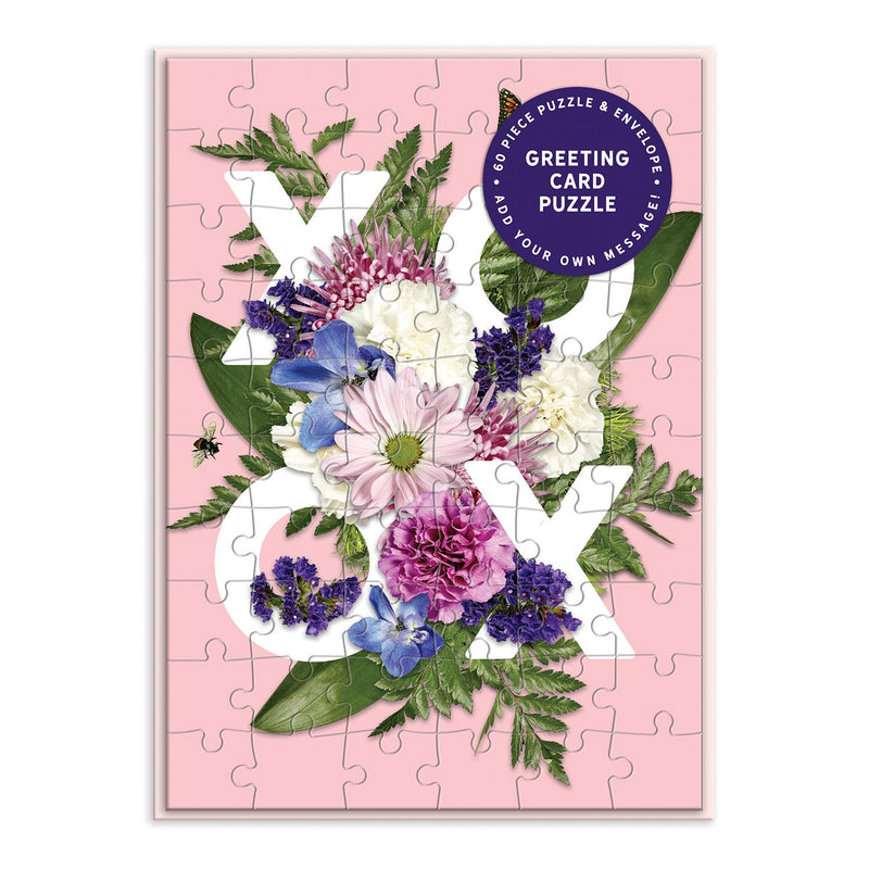Say It With Flowers XOXO Greeting Card Puzzle Greeting Card Puzzles Say it with Flowers Collection