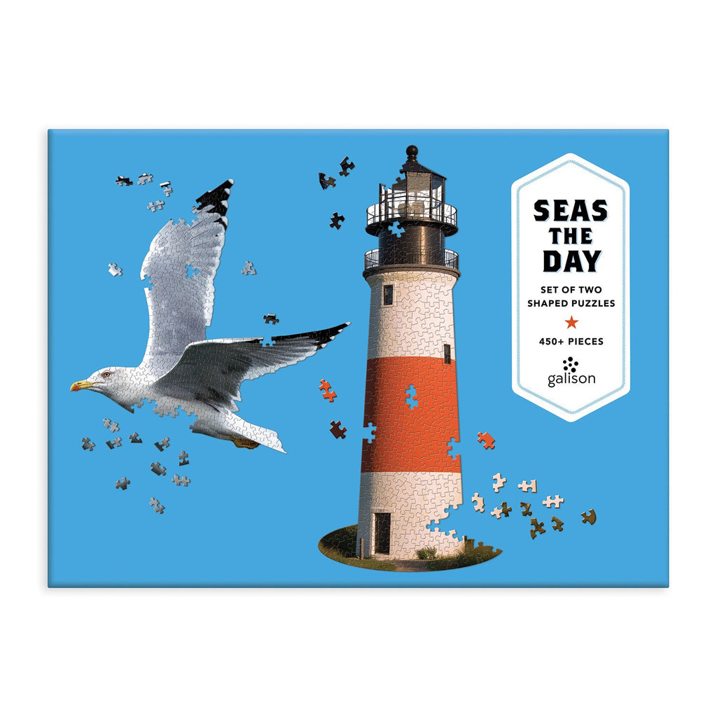 Seas The Day 2 in 1 Shaped Puzzle Shaped Puzzles Galison