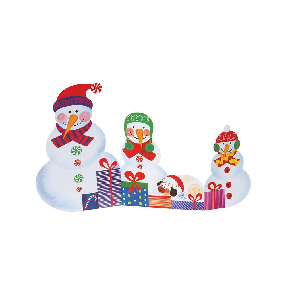 Snowfamily Tri-Fold Notecards Holiday Notecards Galison