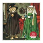 The Arnolfini Marriage Meowsterpiece of Western Art 500 Piece Puzzle 500 Piece Puzzles Meowsterpiece of Western Art Collection