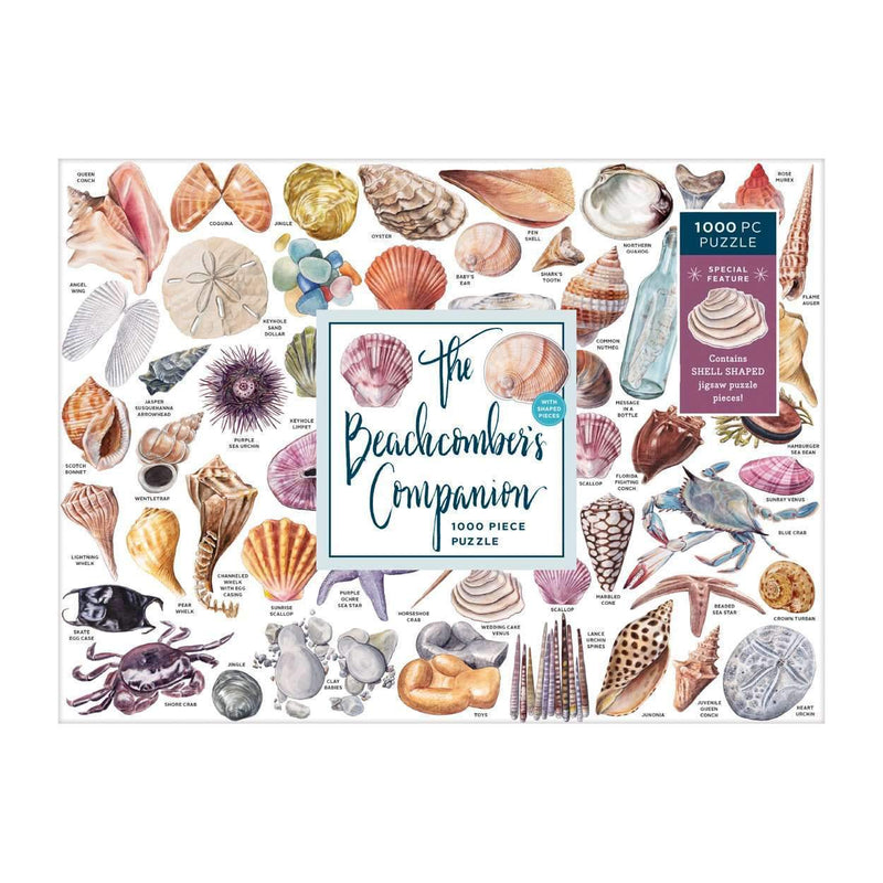 The Beachcomber's Companion 1000 Piece Puzzle With Shaped Pieces 1000 Piece Puzzles Galison