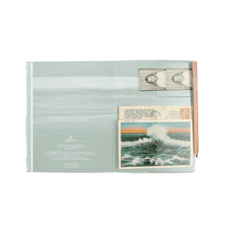 The Beachcomber's Companion PVC Multi-pocket Cover Journal Journals and Notebooks Galison