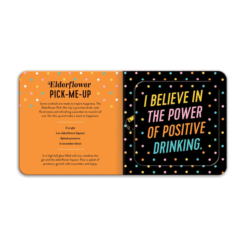 The Power of Positive Drinking Coaster Book Coaster Sets Galison