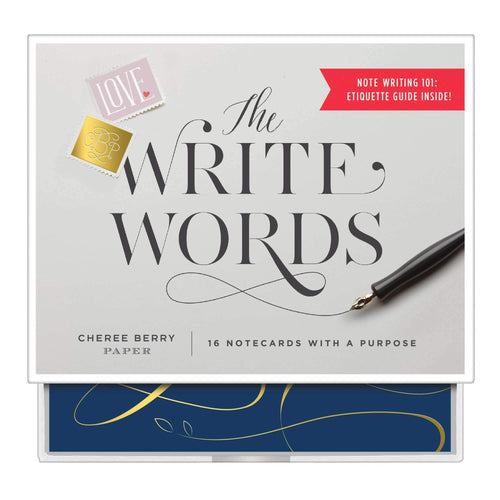 The Write Words Greeting Assortment with Booklet Greeting Cards Galison