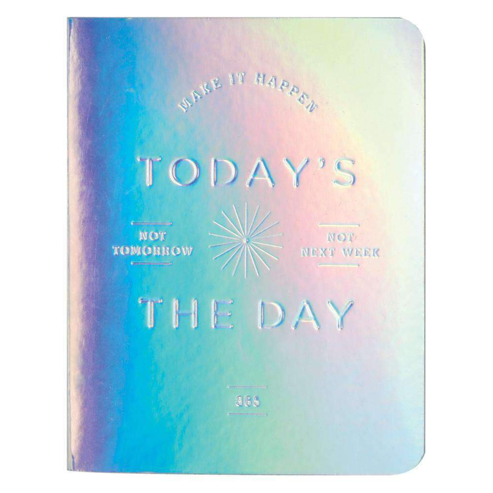 Today's The Day Holographic Luxe Undated Pocket Planner Planners Galison