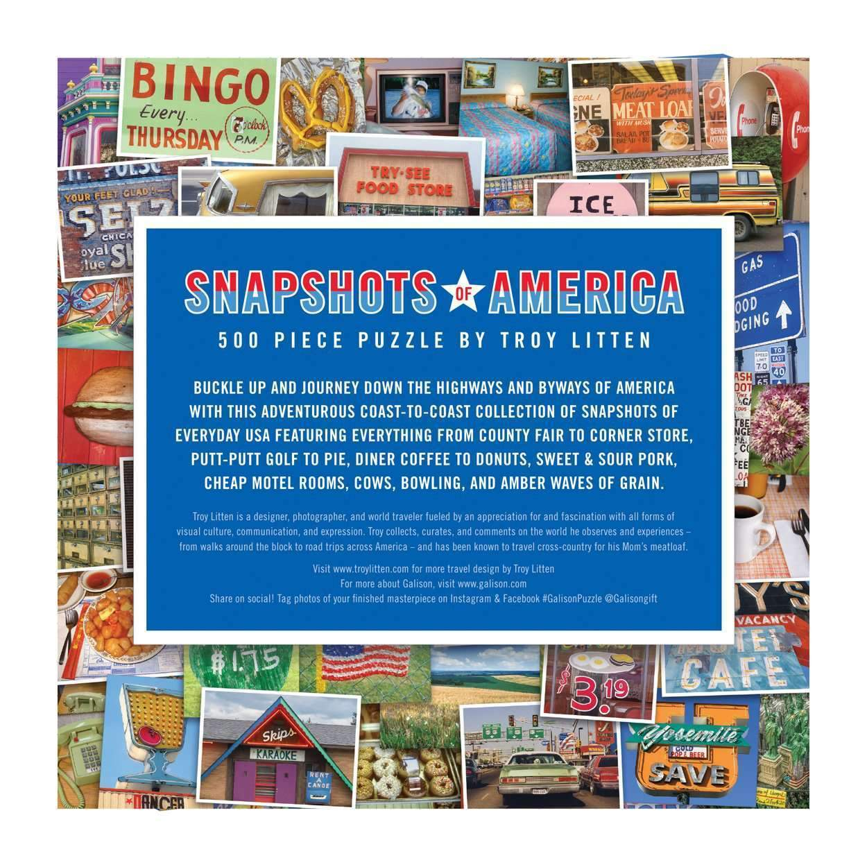 Troy Litten Snapshots Of America 500 Piece Puzzle 500 Piece Puzzles Galison