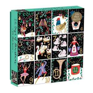 Twelve Days Of Christmas 500 Piece Puzzle holiday 500 Piece Puzzles Galison
