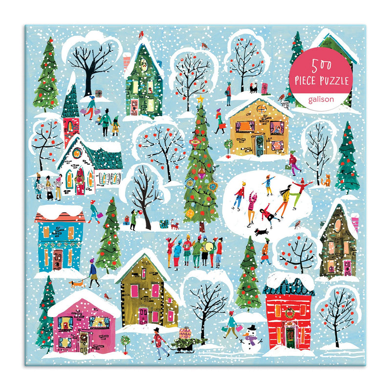 Twinkle Town 500 Piece Puzzle holiday 500 Piece Puzzles Galison