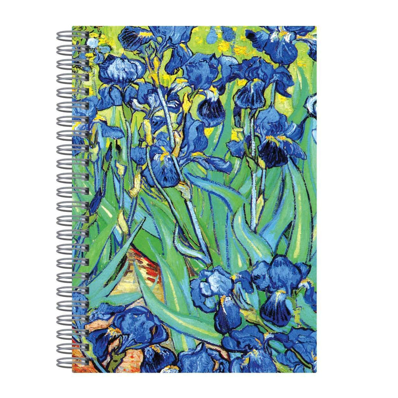 "Van Gogh Irises Wire-O Journal 6 X 8.5"" Journals and Notebooks Galison"