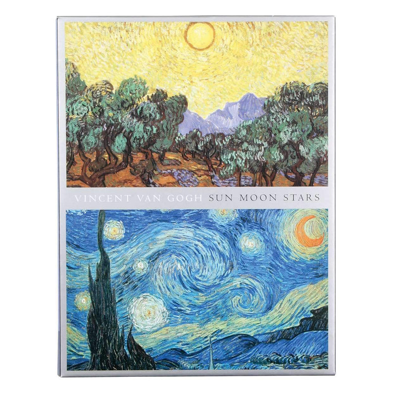 Van Gogh Sun Moon Stars Note Card Portfolio Greeting Cards Galison