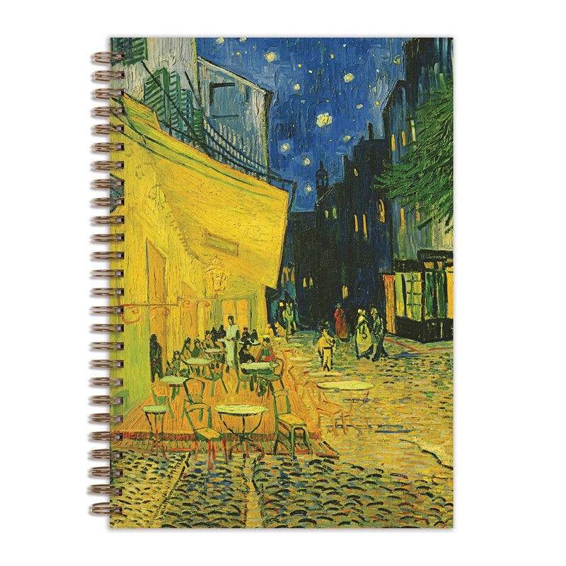 "Van Gogh Terrace at Night 7 x 10"" Wire-O Journal Journals and Notebooks Galison"